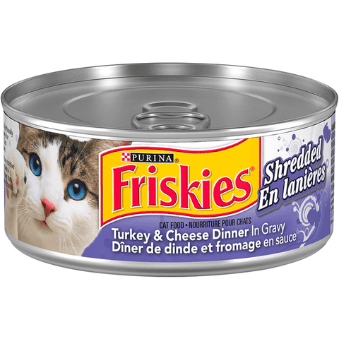 Friskies Canned Shredded Turkey & Cheese, Canned Cat Food, Nestle Purina PetCare - PetMax