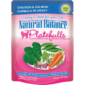 Natural Balance Platefulls Chicken & Salmon Wet Cat Food  Canned Cat Food - PetMax