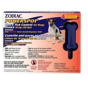 Zodiac Powerspot Small Breed Dog Under 13.6 Kg, Dog Flea & Tick, Zodiac - PetMax Canada