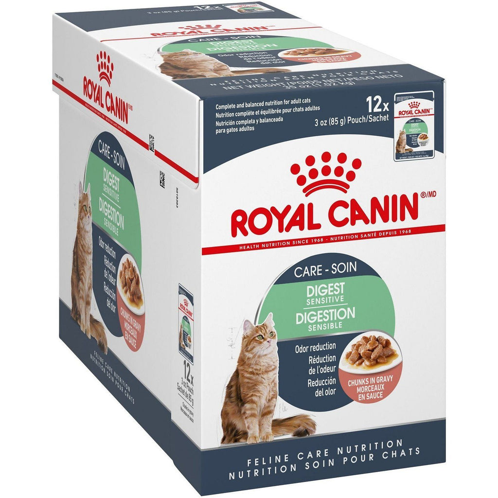 Royal Canin Cat Pouches Chunks In Gravy Adult Digest Sensitive  Canned Cat Food - PetMax