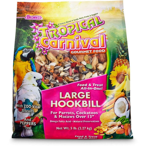Brown's Tropical Carnival Large Hookbill Food, Bird Food, F.M. Bown's Sons Inc. - PetMax
