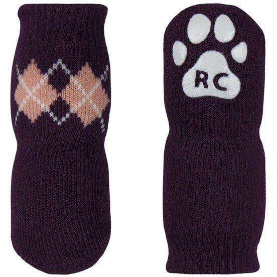 Pawks Anti Slip Socks Argyle Grape, Dog Clothing, Spring Collection - PetMax Canada