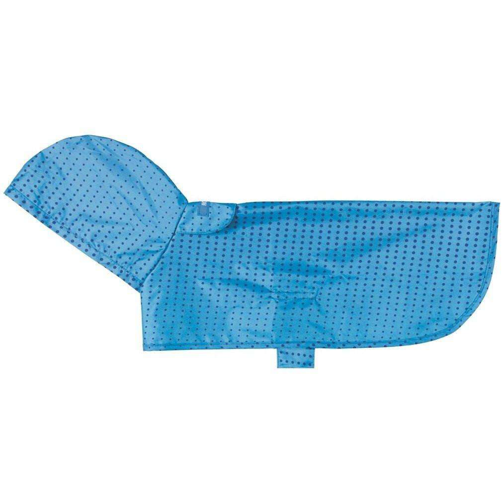 RC Dog Packable Rain Poncho Halftone Blue Dog Clothing [variant_title] [option1] - PetMax.ca