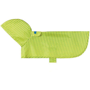 RC Dog Packable Rain Poncho Halftone Green Dog Clothing [variant_title] [option1] - PetMax.ca