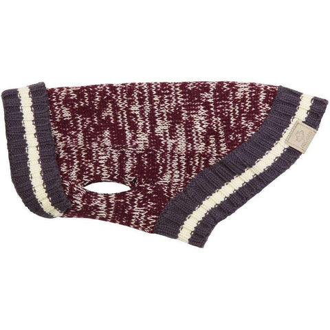 RC Dog Cabin Sweater Burgundy Melange, Dog Clothing, RC Pet Products - PetMax