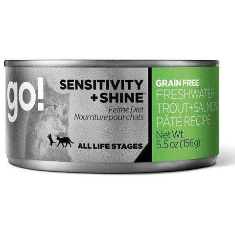 Go! Canned Cat Food Sensitivity & Shine Grain Free Freshwater Trout & Salmon, Canned Cat Food, Petcurean - PetMax