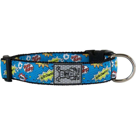 RC Dog Adjustable Collar Pattern Comic Sounds, Dog Collars, Spring Collection - PetMax Canada