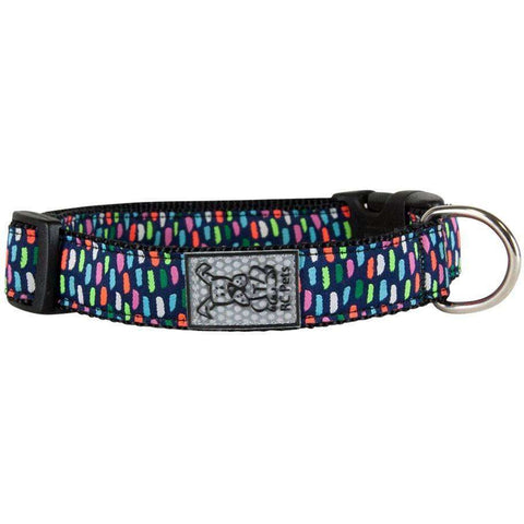 RC Dog Adjustable Collar Pattern Confetti, Dog Collars, Spring Collection - PetMax Canada