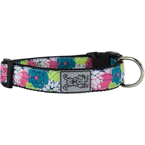 RC Dog Adjustable Collar Pattern Full Bloom, Dog Collars, Spring Collection - PetMax Canada