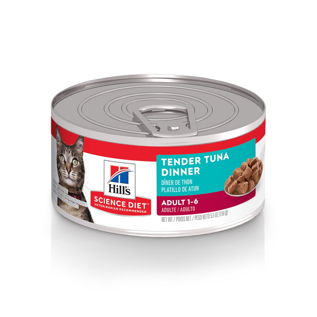 Science Diet Canned Cat Food Tender Dinners Tuna - Case of 24  Canned Cat Food - PetMax