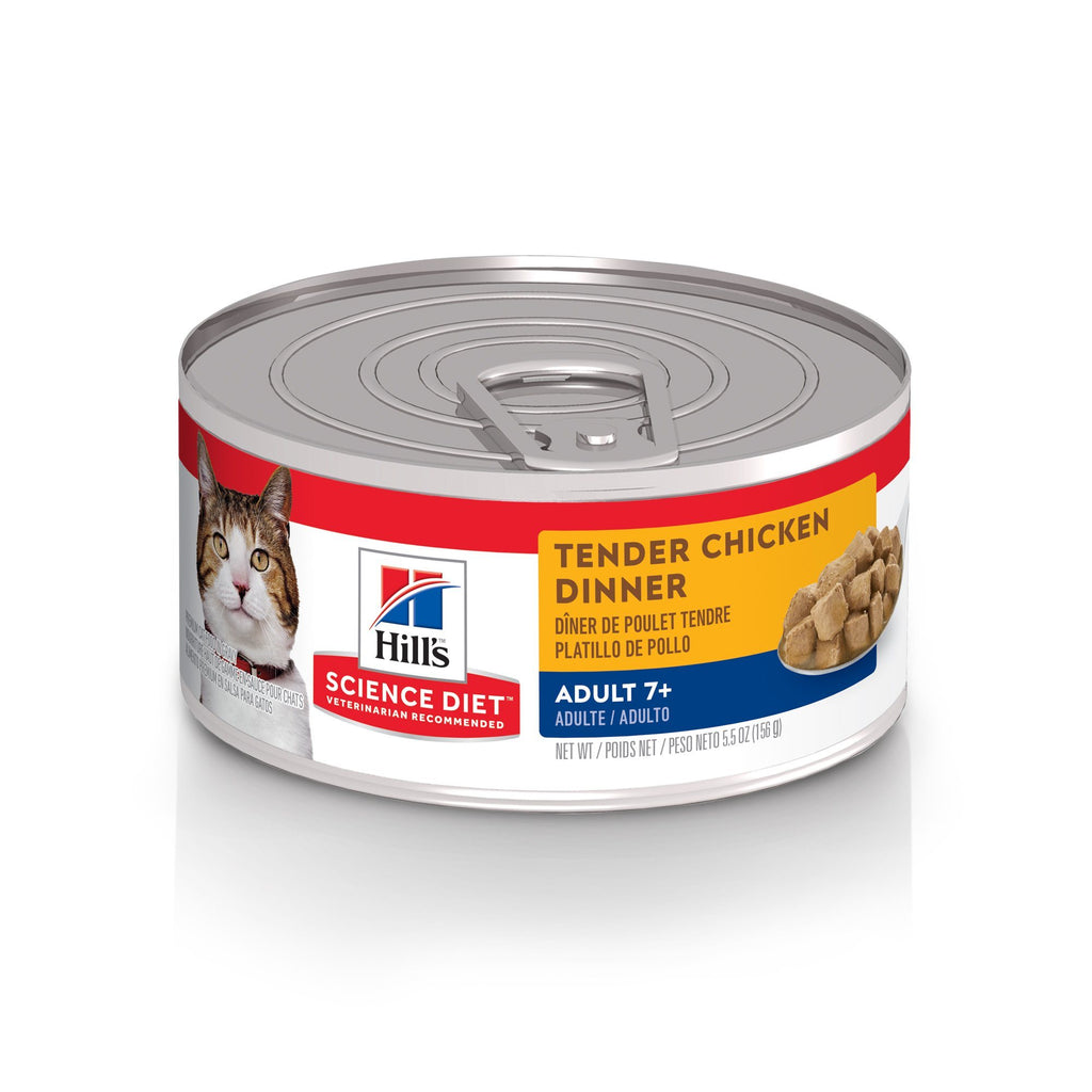 Science Diet Canned Cat Food Tender Dinners Adult Chicken 7+ - Case of 24  Canned Cat Food - PetMax