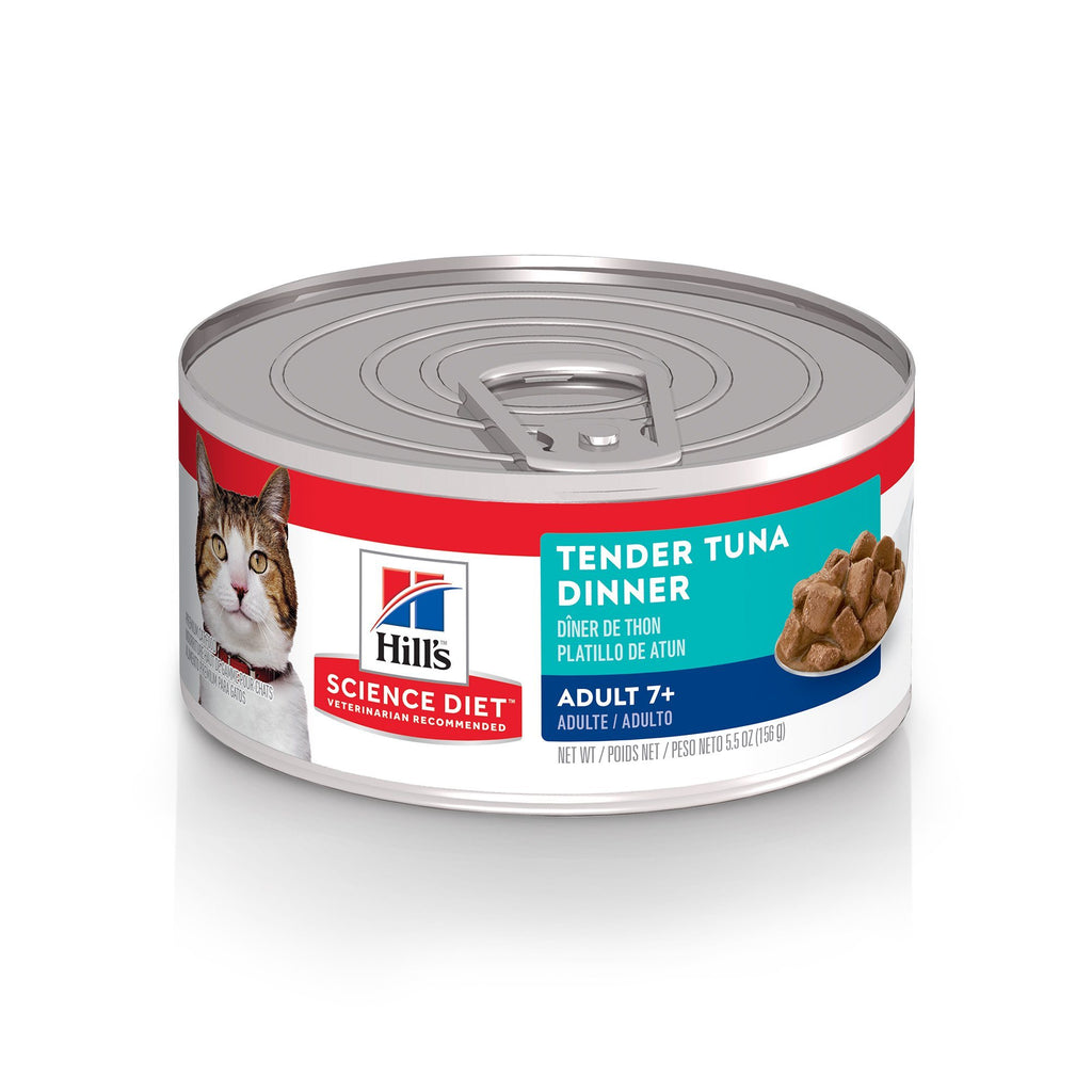 Science Diet Canned Cat Food Tender Dinners Tuna 7+ - Case of 24  Canned Cat Food - PetMax