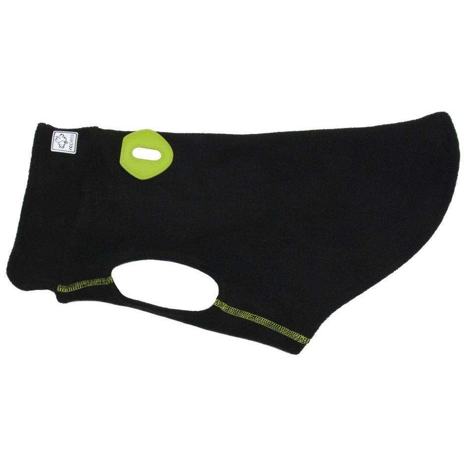 RC Baseline Dog Coat Black & Lime Fleece  Dog Clothing - PetMax