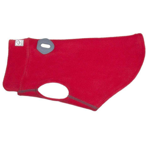 RC Baseline Dog Coat Red & Grey Fleece, Dog Clothing, RC Pet Products - PetMax