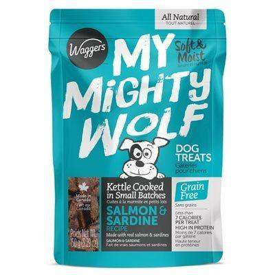Waggers My Mighty Wolf Dog Treats Salmon, Dog Treats, Waggers Pet Products - PetMax Canada
