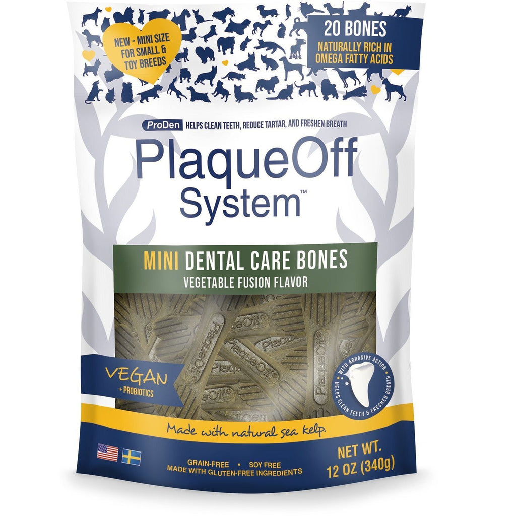 PlaqueOff System Dental Vegetable Bones Mini  Dog Treats - PetMax