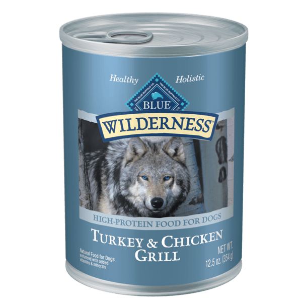Blue Buffalo Wilderness Canned Dog Food Turkey & Chicken  Canned Dog Food - PetMax