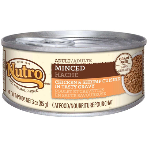 Nutro Canned Cat Food Adult Minced Chicken & Shrimp