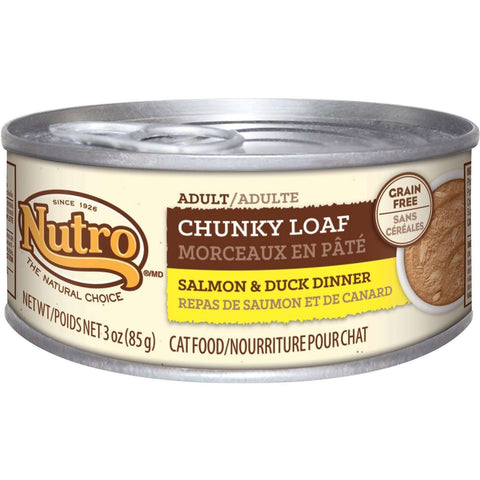 Nutro Canned Cat Adult Chunky Loaf Salmon & Duck