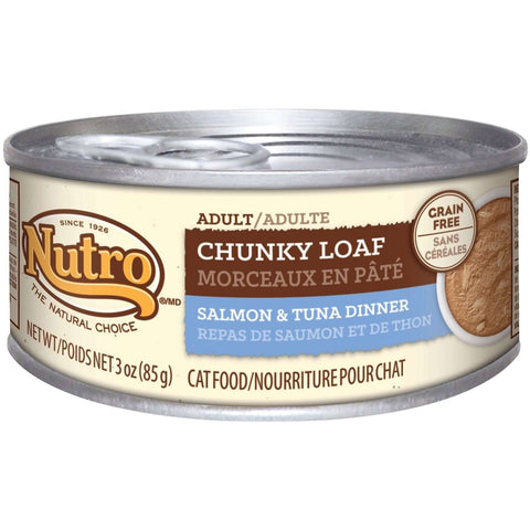 Nutro Canned Cat Food Adult Chunky Loaf Salmon & Tuna