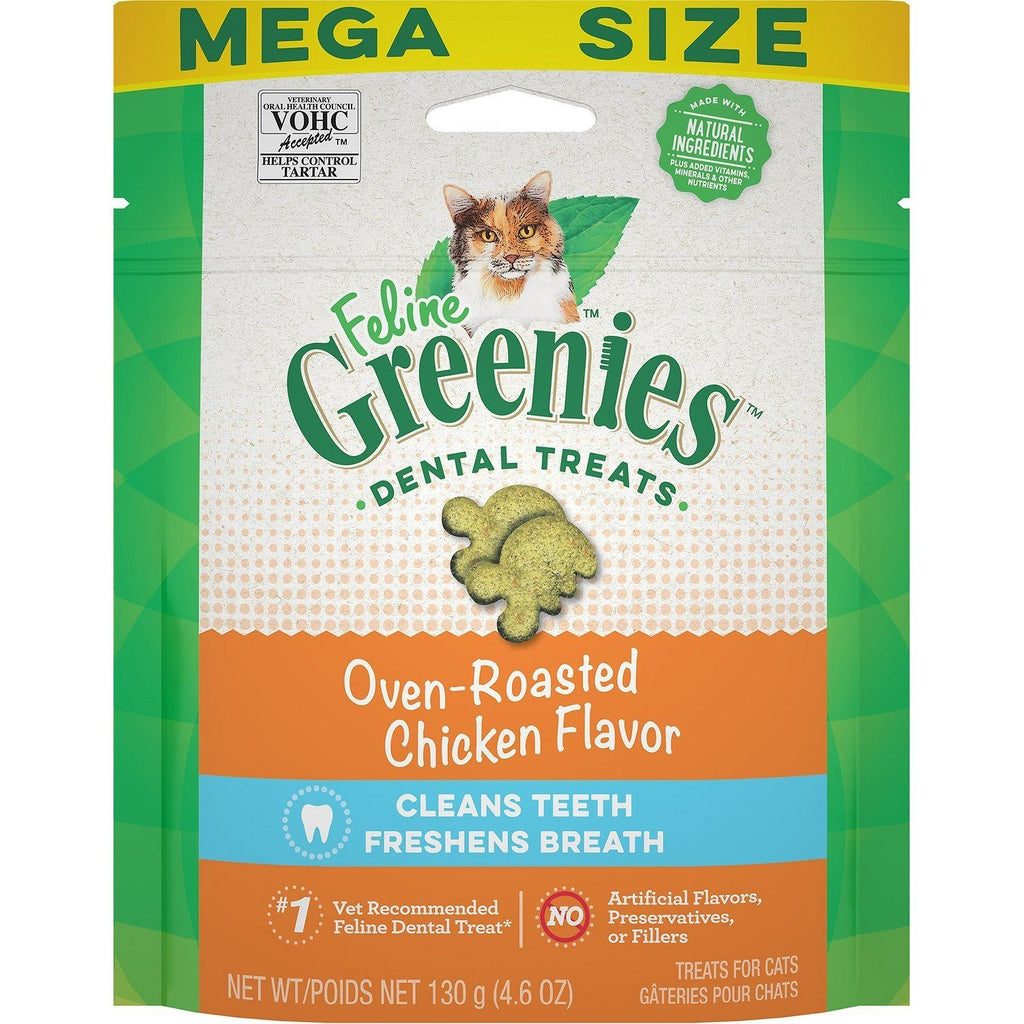 Greenies Feline Oven Roasted Chicken Flavour 130g Cat Treats - PetMax