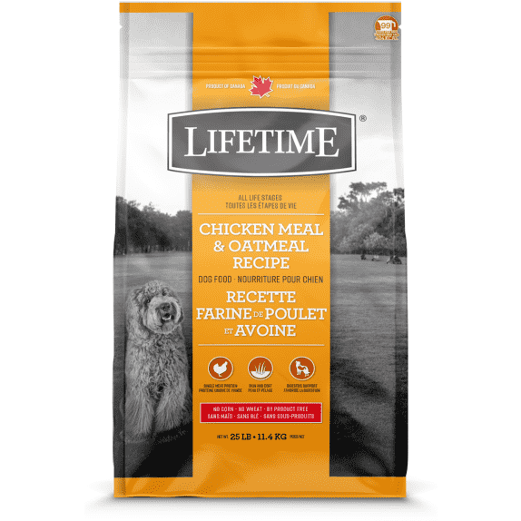 Lifetime Adult Dog Food Chicken & Oatmeal Dog Food [variant_title] [option1] - PetMax.ca