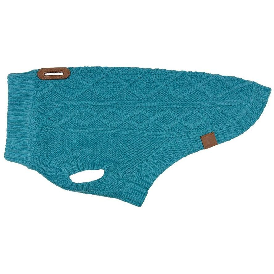 RC Dog Clothing Cable Knit Sweater Dark Teal  Dog Clothing - PetMax