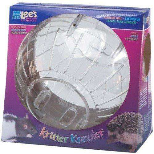 Lee's Kritter Krawler Exercise Ball Clear, Small Animal Toys, Lee's - PetMax Canada
