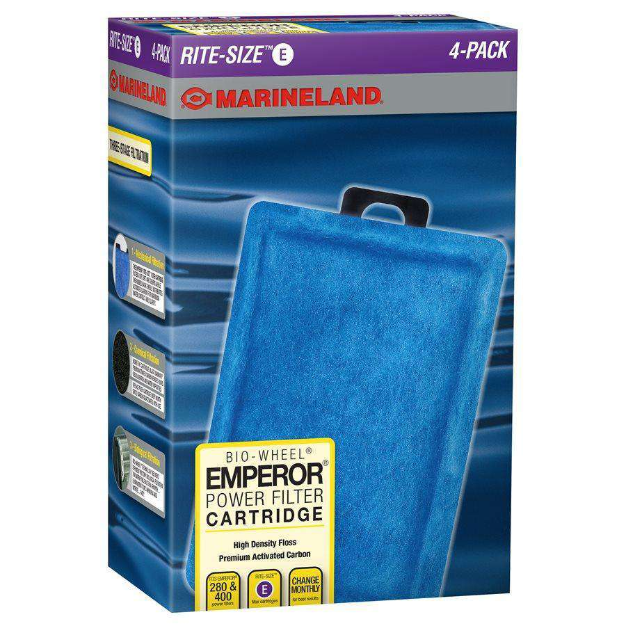 Marineland Emporer Rite-Size Cartridge E 4-Pack Filters - PetMax