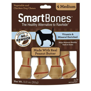 Smart Bones Dog Chews Peanut Butter Medium Dog Treats - PetMax