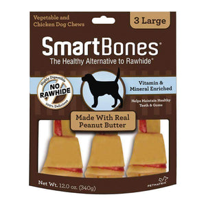 Smart Bones Dog Chews Peanut Butter Large Dog Treats - PetMax