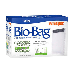 Tetra Whisper Bio-Bag Cartridge Medium Unassembled 12 Pack Filters - PetMax