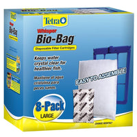 Tetra Whisper Bio-Bag Cartridge Large Unassembled 8 Pack Filters - PetMax