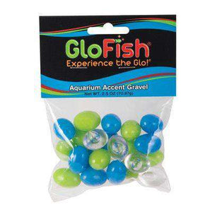 GloFish Gravel Accent 3-Colours: Blue, Green & Clear  Gravel - PetMax
