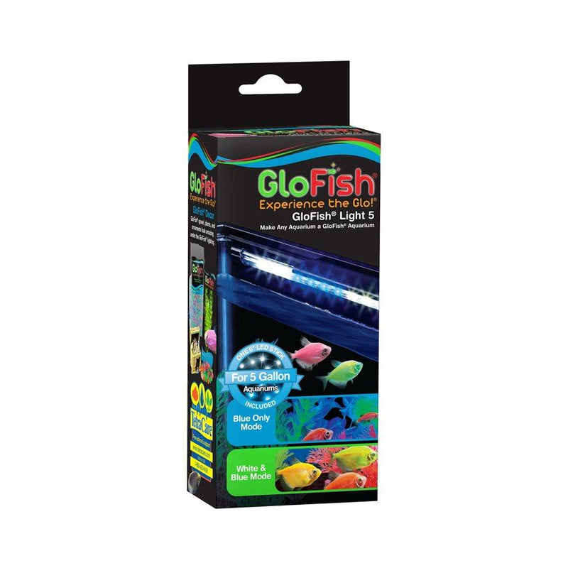 "GloFish Light 5 Gallon 6"" White & Blue LED Stick  Lighting - PetMax"