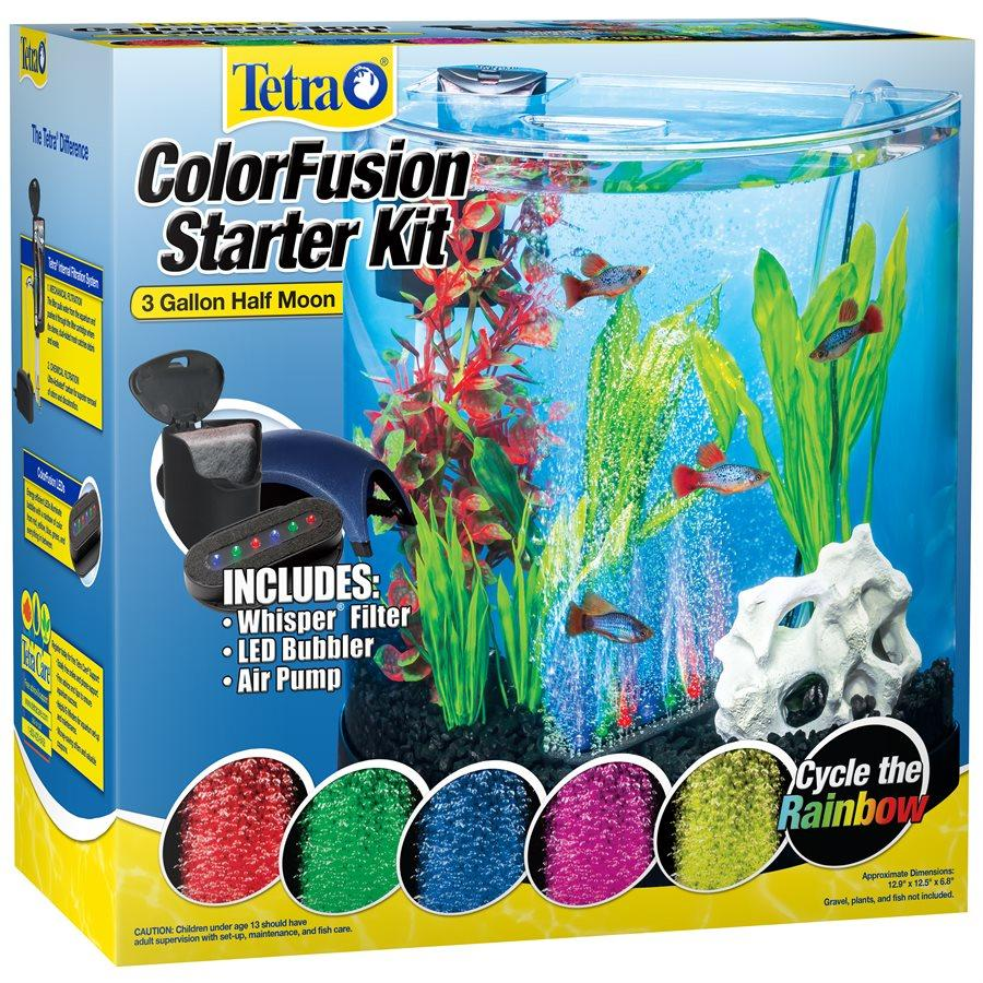 Tetra ColourFusion Half Moon 2C Aquarium Kit 3 Gallons Aquarium [variant_title] [option1] - PetMax.ca
