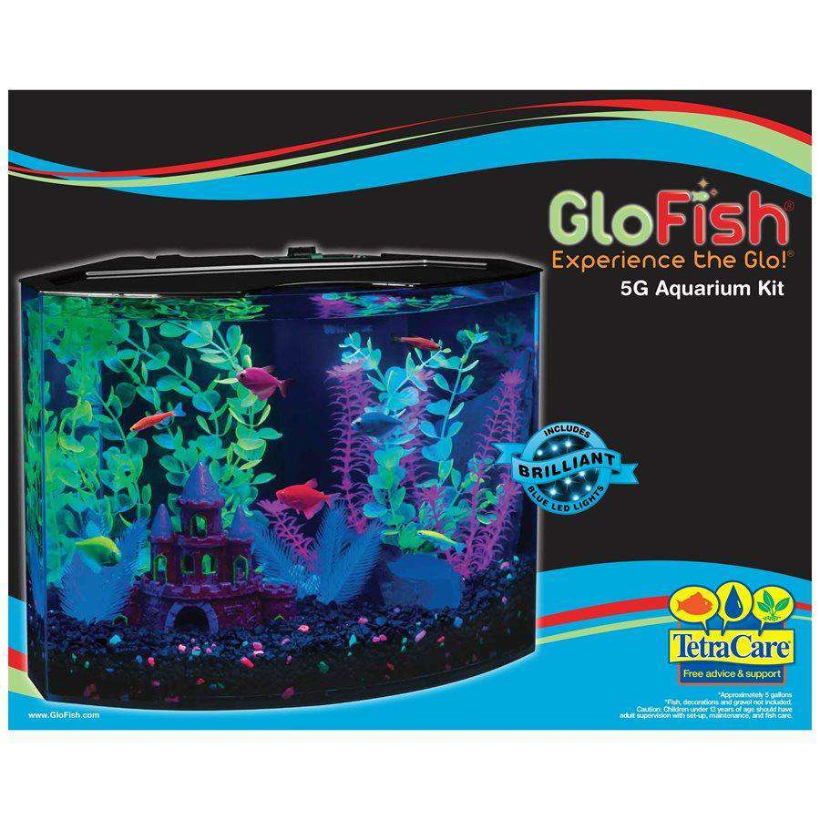 GloFish Aquarium Kit with Blue LED Light Aquarium [variant_title] [option1] - PetMax.ca