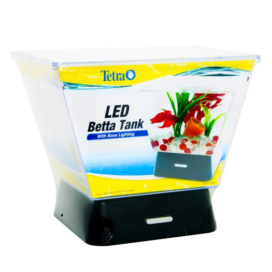 Tetra Betta LED Tank Aquarium Kit 1 Gallon Aquarium [variant_title] [option1] - PetMax.ca