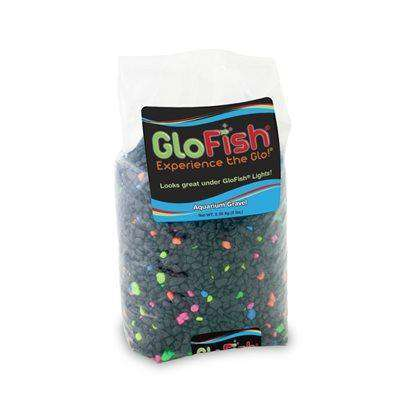 GloFish Gravel Black with Fluorescent Highlights  Gravel - PetMax