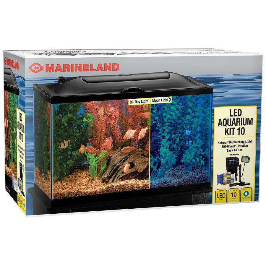 Marineland BIO-Wheel LED Aquarium Kit Aquarium 10 Gallons 10 Gallons - PetMax.ca