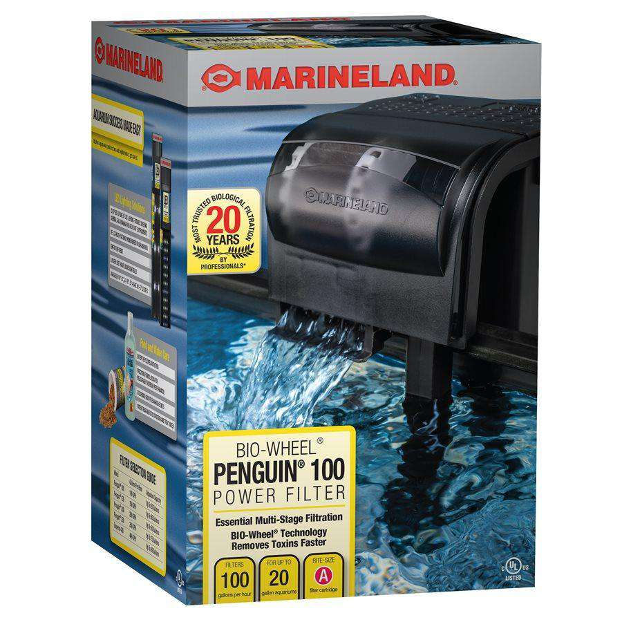 Marineland Penguin 100 GPH Power Filter up to 20 Gallons  Filters - PetMax