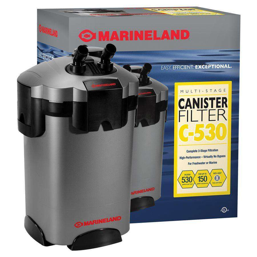 Marineland C-Series 530 GPH Canister Filter 100 - 500 Gallons  Filters - PetMax