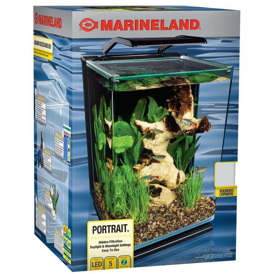 Marineland Portrait Blade Light Aquarium Kit 5 Gallons | Aquarium -  pet-max.myshopify.com