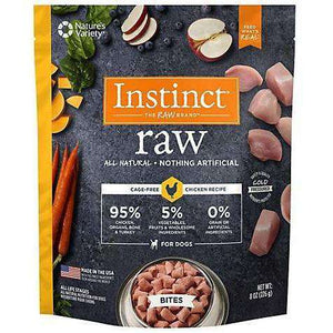 Instinct Raw Dog Food Frozen Chicken Bites  Frozen Dog Food - PetMax