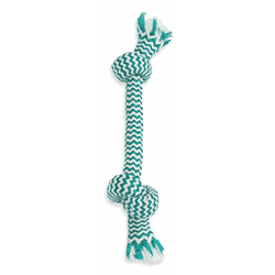 Mammoth Fresh Mint Double Knot Rope Bone, Dog Toys, Manchester Pet Supplies - PetMax Canada