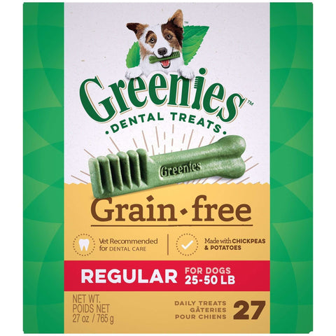 Greenies Grain Free Dental Treats Regular, Dog Treats, Greenies - PetMax