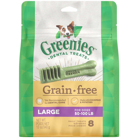 Greenies Grain Free Dental Treats Large, Dog Treats, Greenies - PetMax Canada