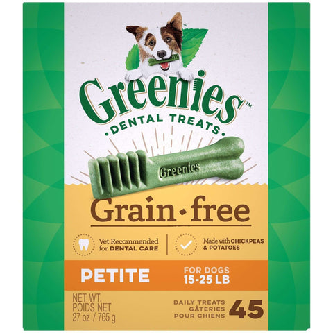 Greenies Grain Free Dental Treats Petite, Dog Treats, Greenies - PetMax
