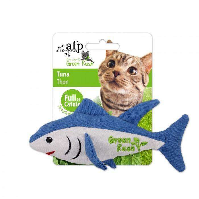 All For Paws Cat Toy Green Rush Tuna  Cat Toys - PetMax