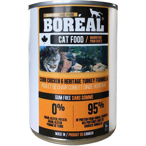Boreal Canned Cat Food Adult Cobb Chicken & Heritage Turkey Canned Cat Food [variant_title] [option1] - PetMax.ca